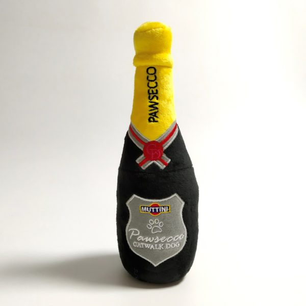 Pawsecco Bottle Plush Dog Toy