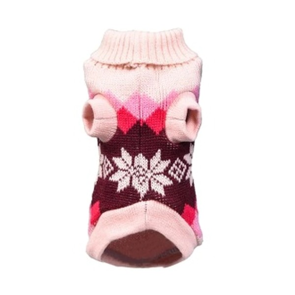 Pink Snowflake Knitted Sweater