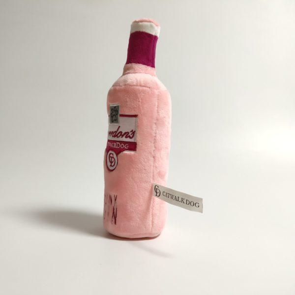 Grrrdon's Pink Gin Bottle Plush Dog Toy