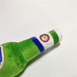 Pawroni Beer Bottle Plush Dog Toy