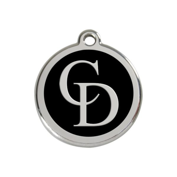 CatwalkDog Collar Tag in Black