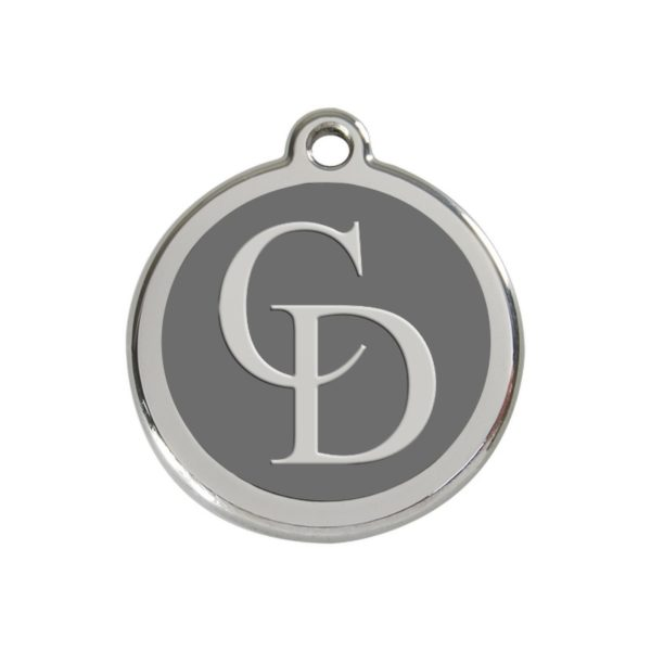 CatwalkDog Collar Tag in Grey
