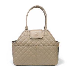 Paris Quilted Pet Carrier in Camel