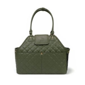 Paris Quilted Pet Carrier in Olive